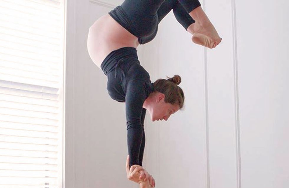 ¡Embarazo en el aire! Vas a alucinar con las acrobacias de esta futura mamá