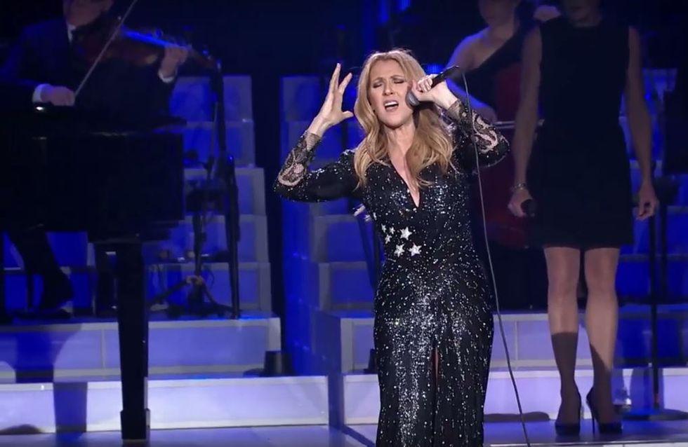 Céline Dion remonte sur scène et rend hommage à René Angélil (Photos et Vidéo)