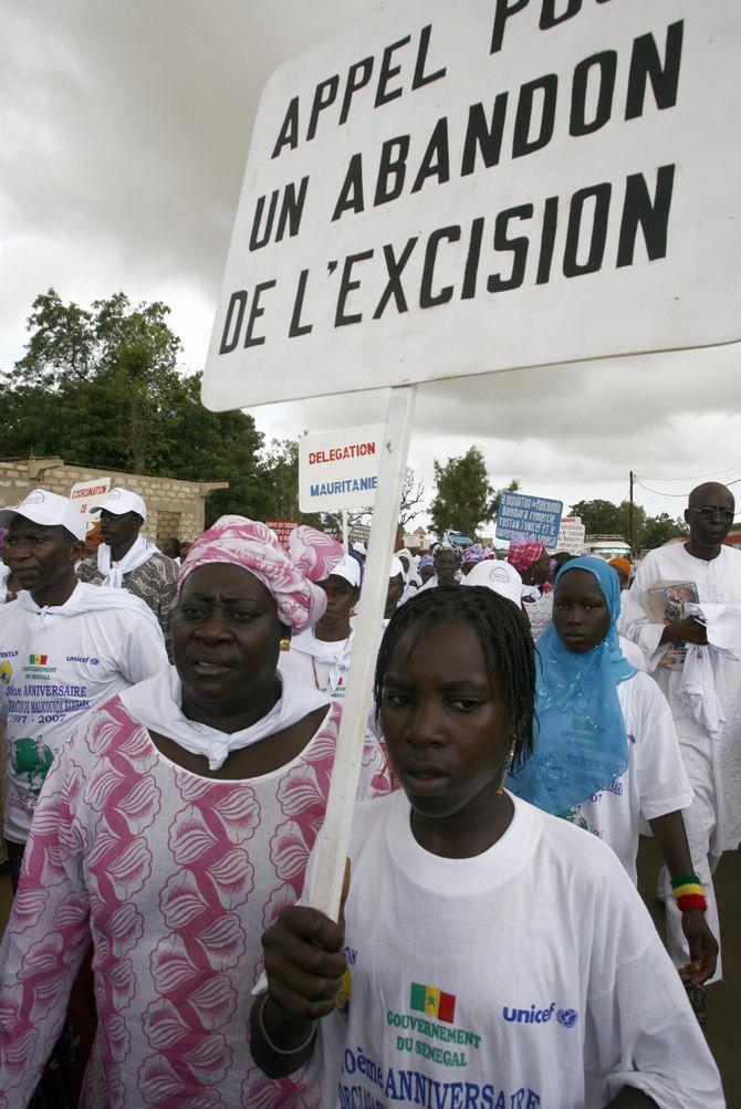 Une manifestation contre l'excision