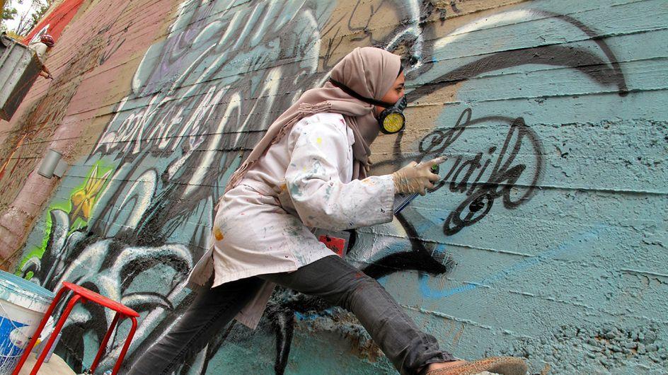 Grafitis contra la represión de la mujer en el mundo árabe