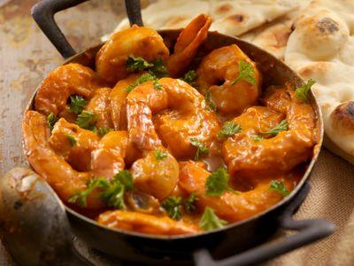 Gambas con curry y perejil