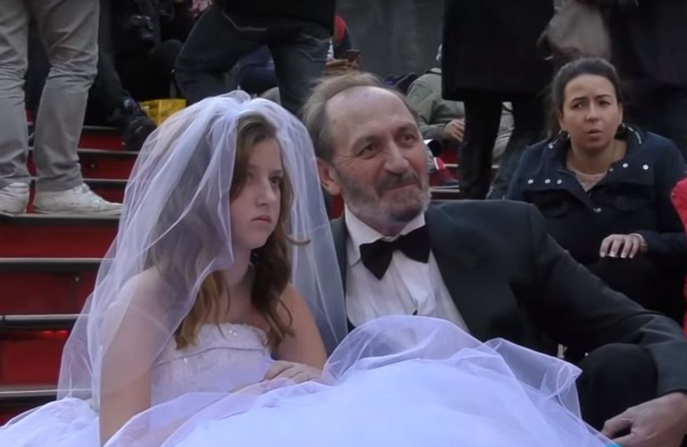 Le mariage forcé d'une fillette de 12 ans fait scandale à New York (Vidéo)