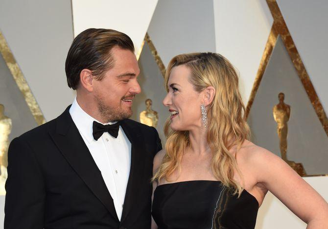 Leonardo DiCaprio e Kate Winslet insieme