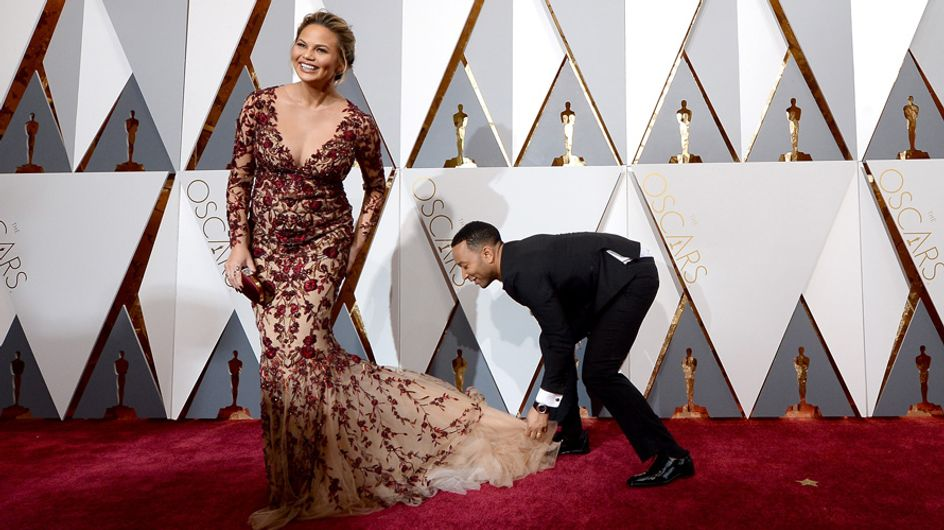 John Legend Helping Chrissy Teigen With Her Gown Has Melted Our Lonely Single Hearts
