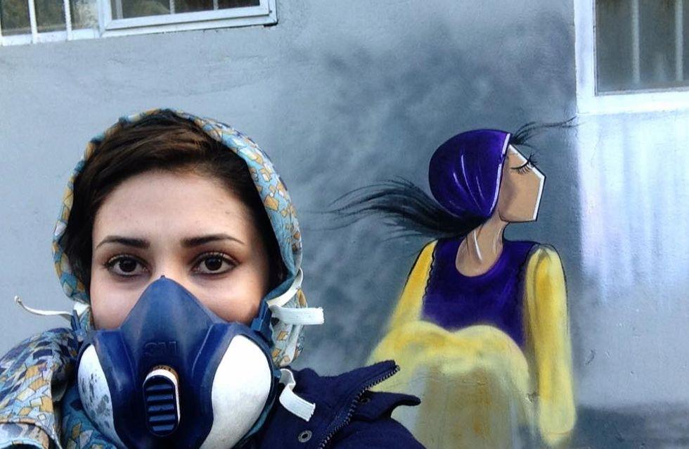 Shamsia Hassani, première grapheuse afghane qui peint la force des femmes (Photos)