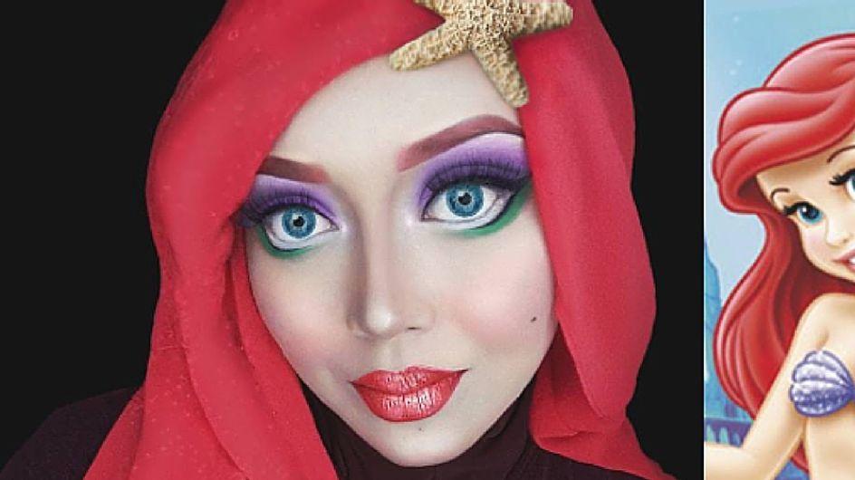 Velo e make up: ecco come questa donna si trasforma nei personaggi Disney!