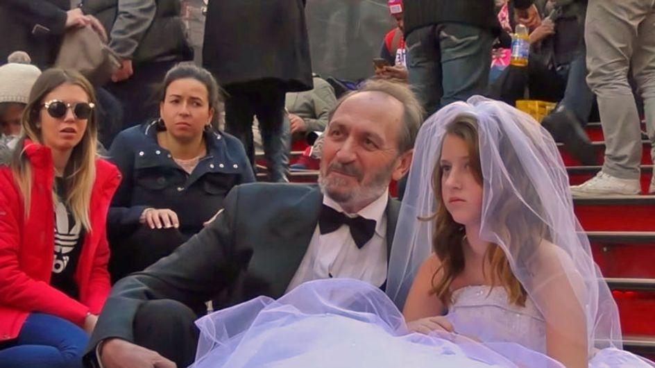 Il matrimonio tra una 12enne e un 65enne che scandalizza il mondo (video)