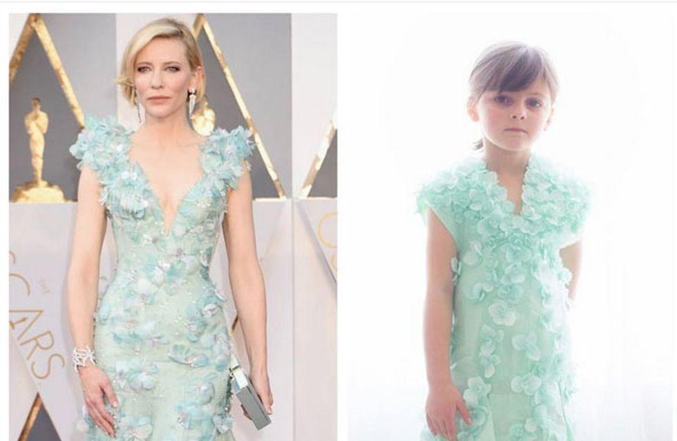 A 6 ans, elle recrée les robes des Oscars 2016 avec du papier
