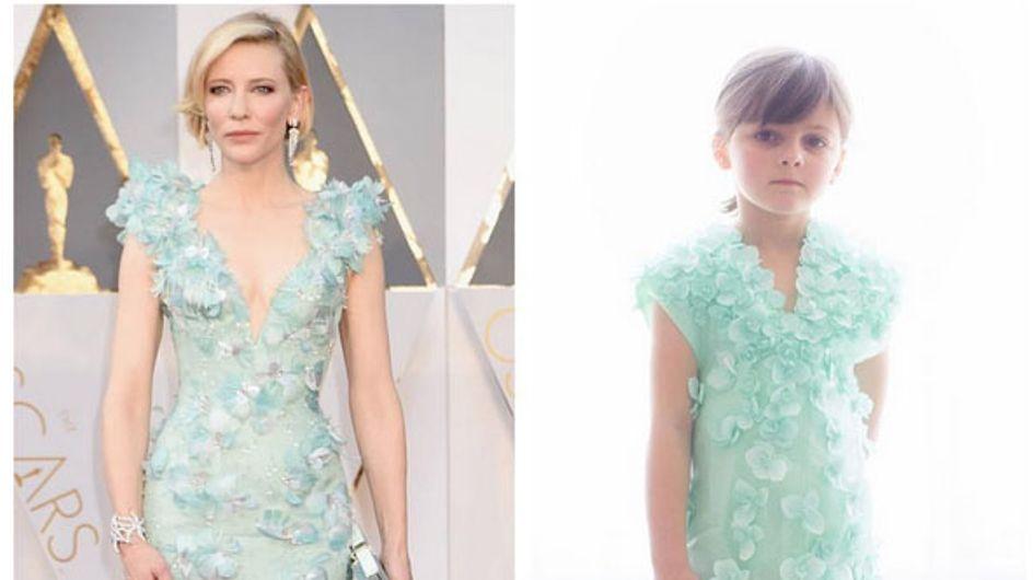 A 6 anni, ricrea gli abiti degli Oscar con la carta