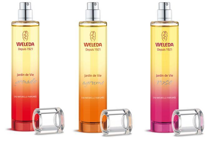 Les eaux naturelles parfumées Weleda