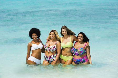Mollige bandeau bikini für Top 10