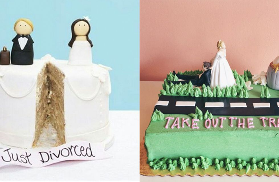 Newly-unwedded Couples Are Celebrating With Divorce Cakes And It's Hilarious And Only A Little Depressing