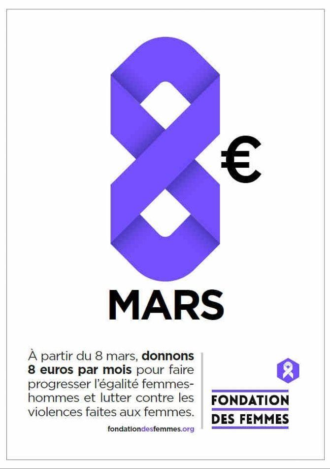 Une affiche de la Fondation des Femmes