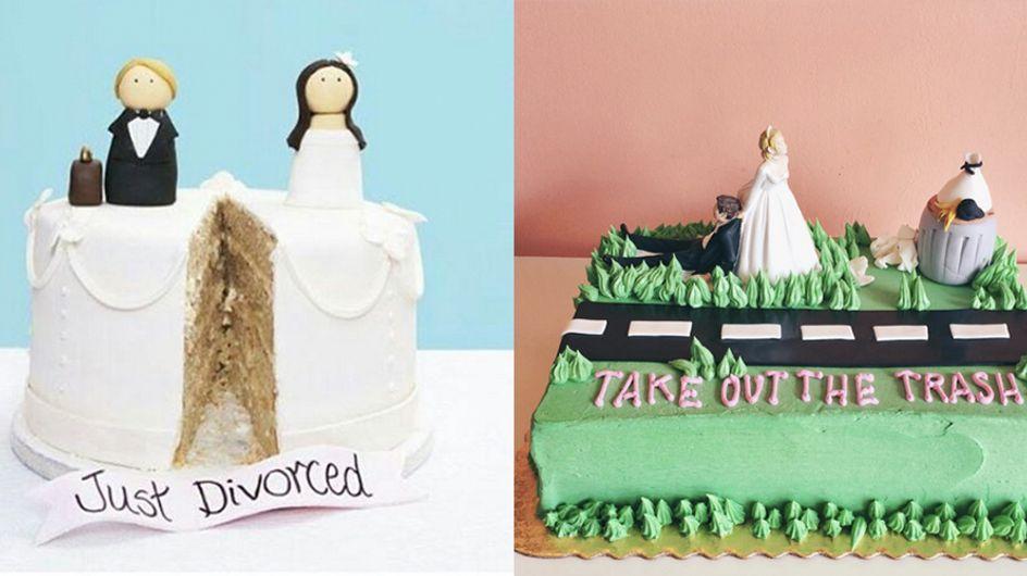 Juchu, die Scheidung ist durch! Mit diesen genialen Kuchen wird die Trennung so richtig gefeiert