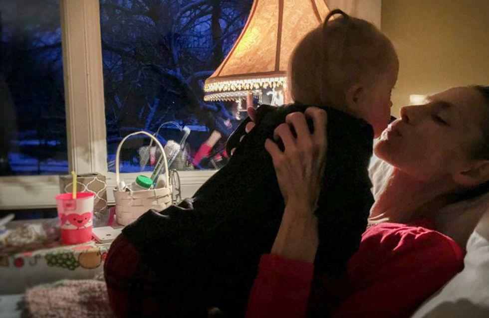 Der letzte Kuss: So nimmt eine todkranke Mama Abschied von ihrer kleinen Tochter