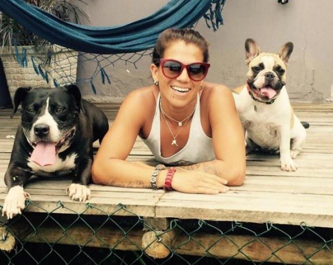 Silvana Lima et ses chiens