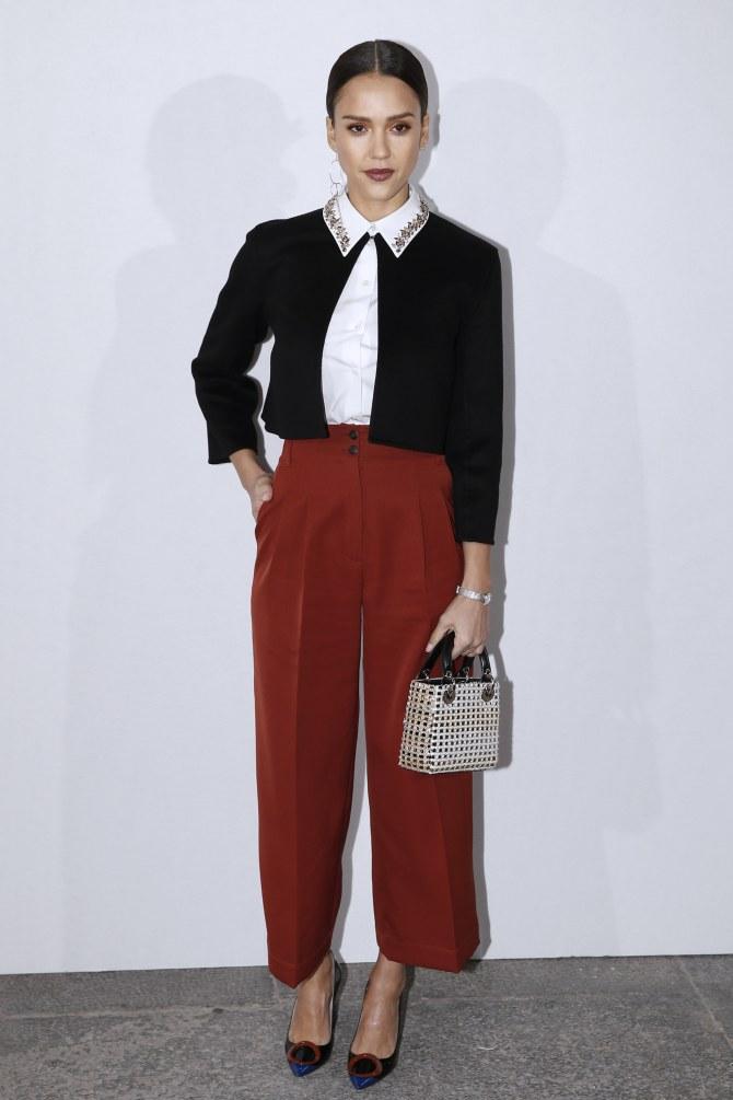Jessica Alba au défilé Dior