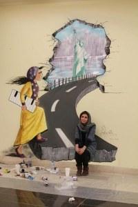 I disegni di Shamsia Hassani