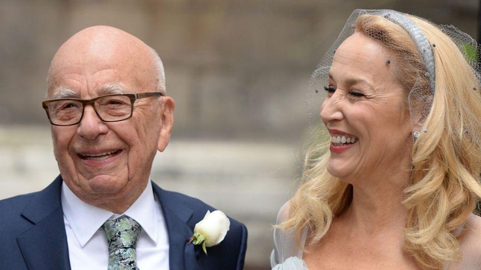 Londres se tiñe de azul para celebrar la boda de Rupert Murdoch y Jerry Hall