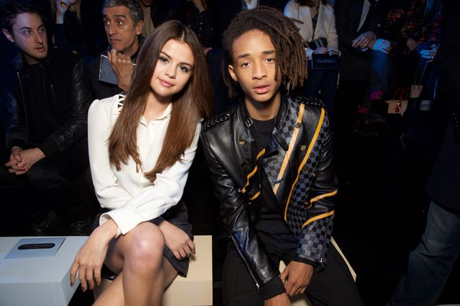 Selena Gomez et Jaden Smith au défilé Louis Vuitton