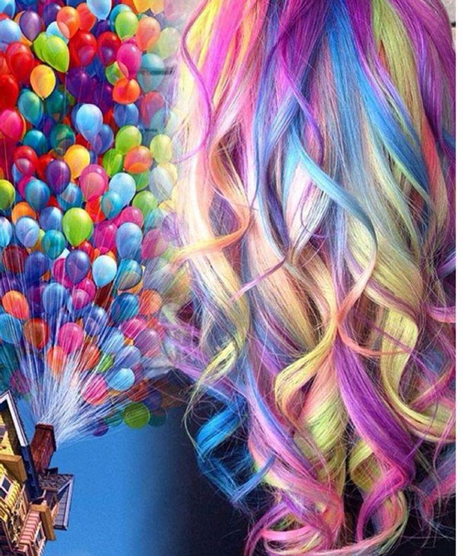"""Les couleurs de la maison """"Là-haut"""" ont inspiré cette coloration"""