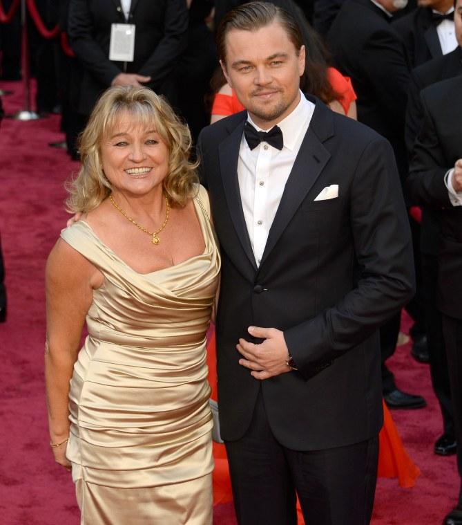 Leonardo DiCaprio e sua madre