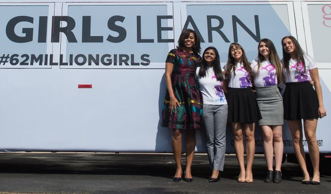Michelle Obama pour Let Girls Learn