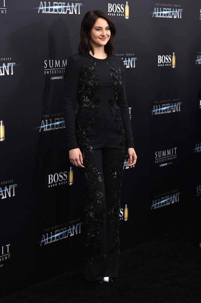 Shailene Woodley le 14 mars 2016 à New York