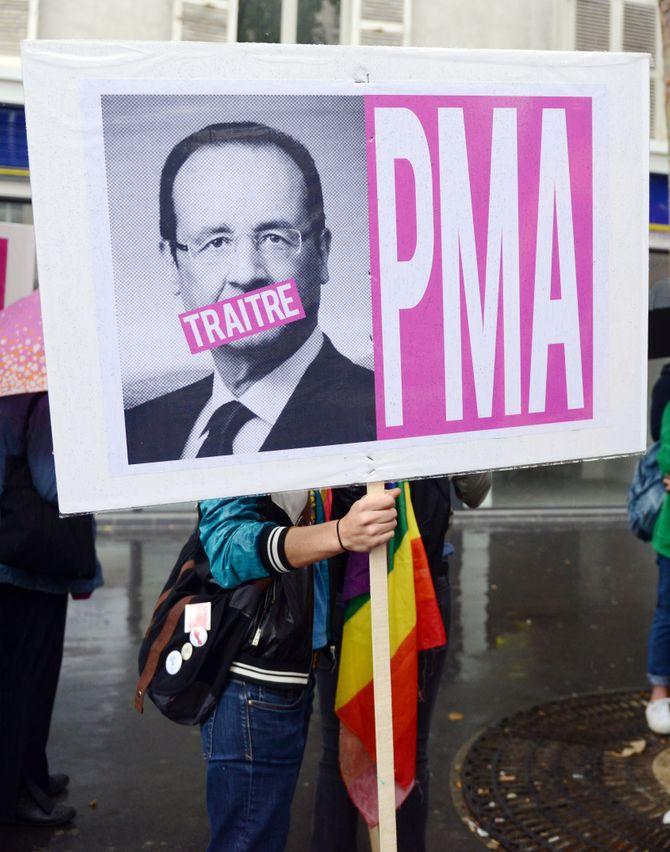 Manifestation pour la PMA