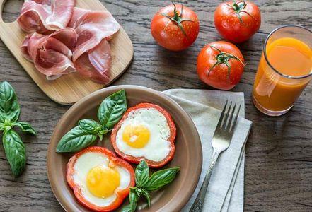 Huevos con pimiento