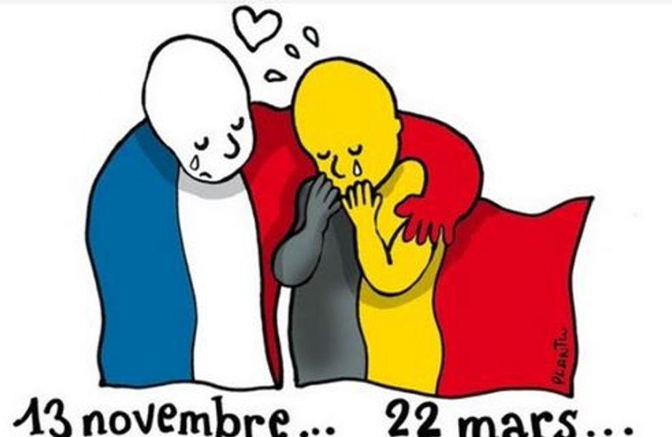 Attentats à Bruxelles : Les plus beaux hommages en dessins