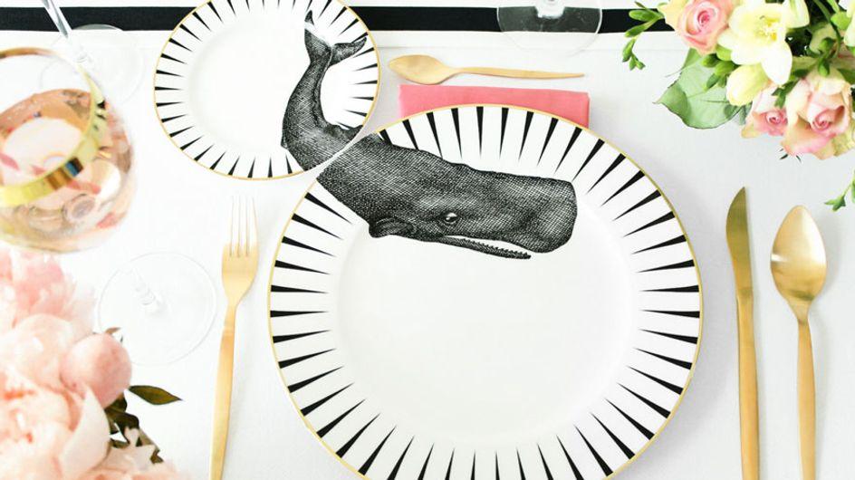 ¡Todos a la mesa! La vajilla de porcelana fina más salvaje del mundo