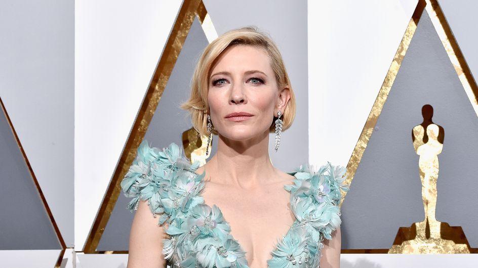 Cate Blanchett méconnaissable avec une coloration rose ! (Photos)