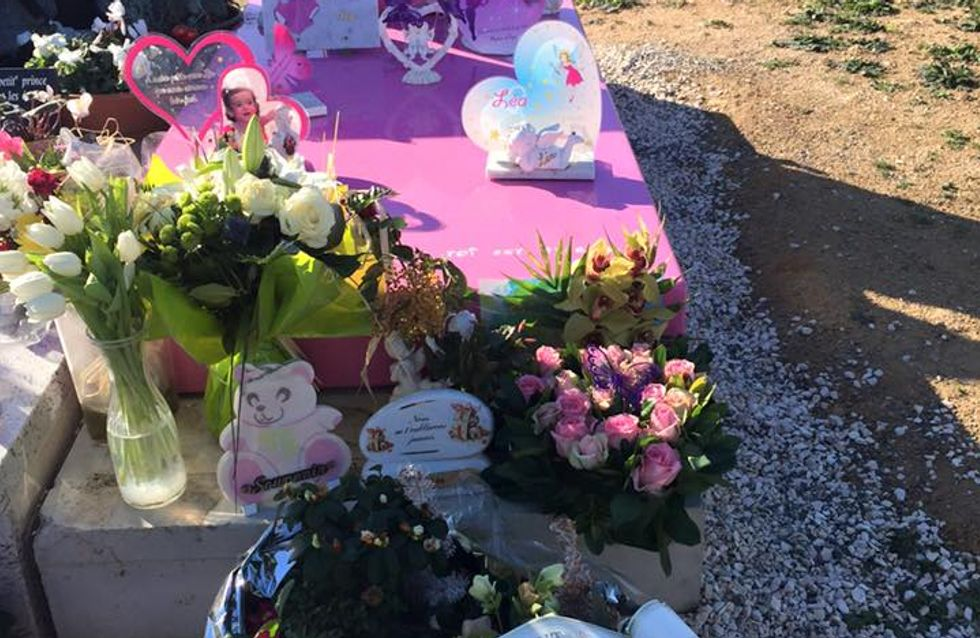 La tomba rosa di una bimba fa polemica in Costa Azzurra