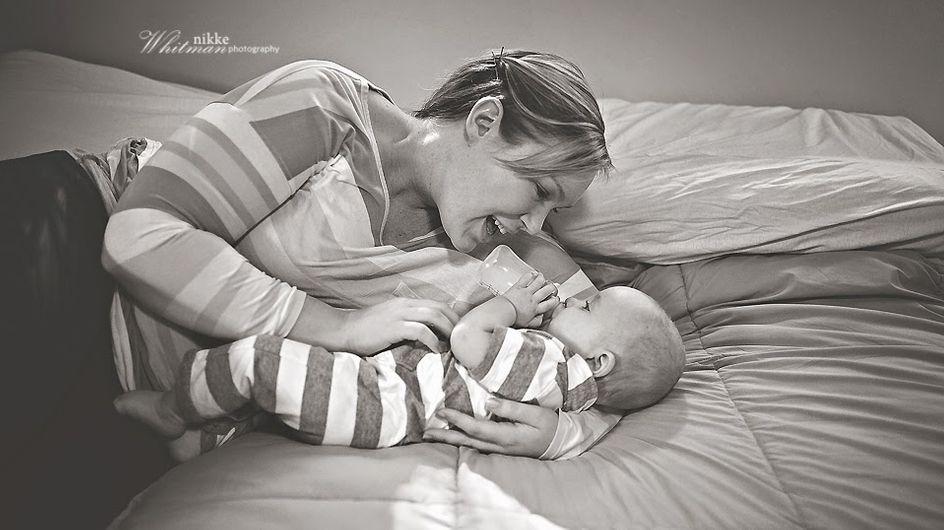 Esta fotógrafa demuestra con sus imágenes que dar el biberón también es un acto precioso