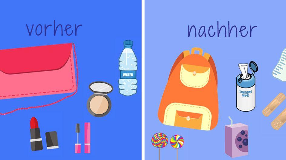 Der kleine Unterschied: Die Handtasche einer Mama vs. die Handtasche einer Nicht-Mama
