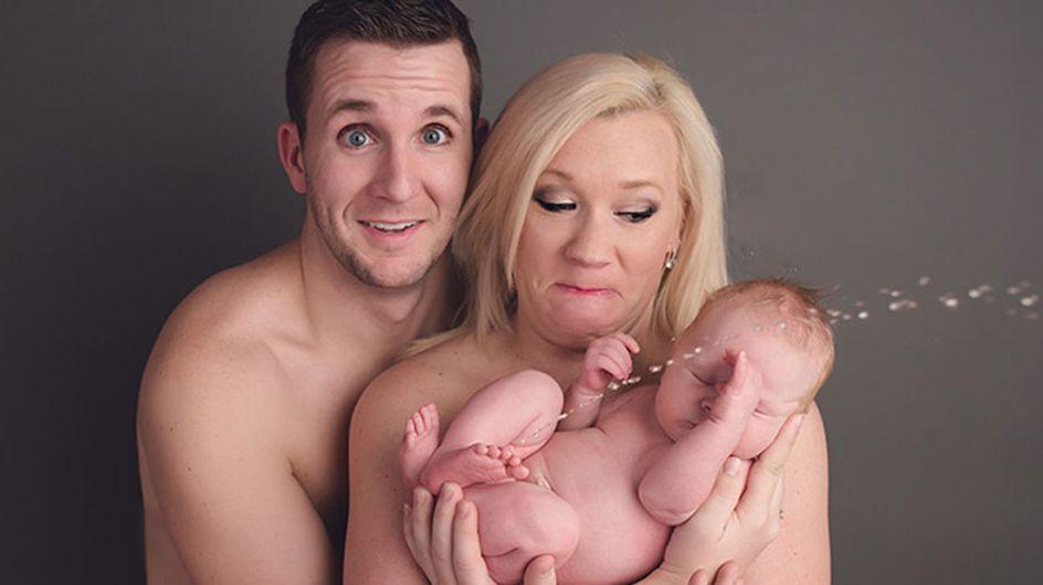 ¡Una sorpresa inesperada! Atenta a lo que hace este bebé durante su primera sesión de fotos