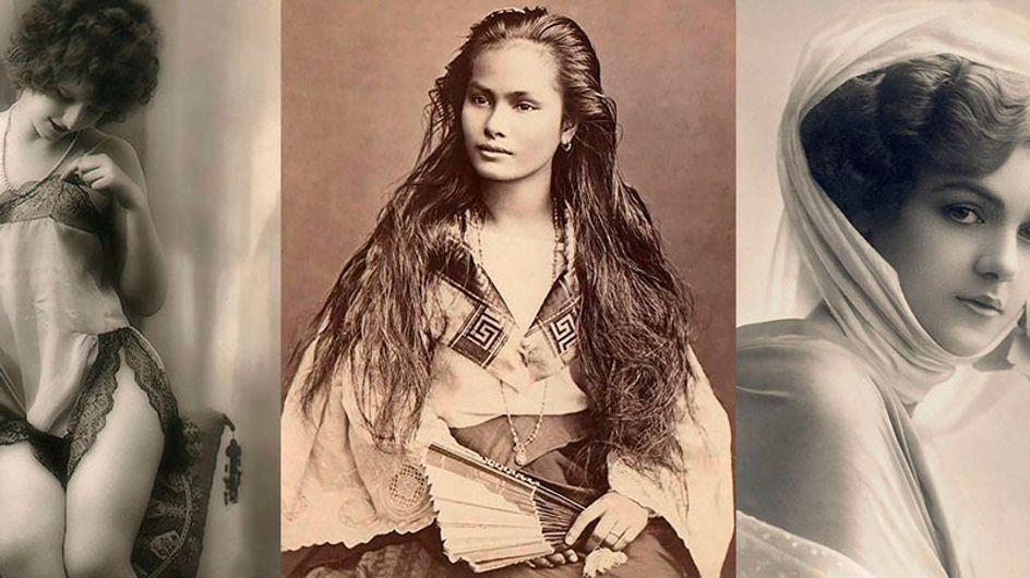 Belezas femininas imortalizadas em cartões postais datados do início do século 20