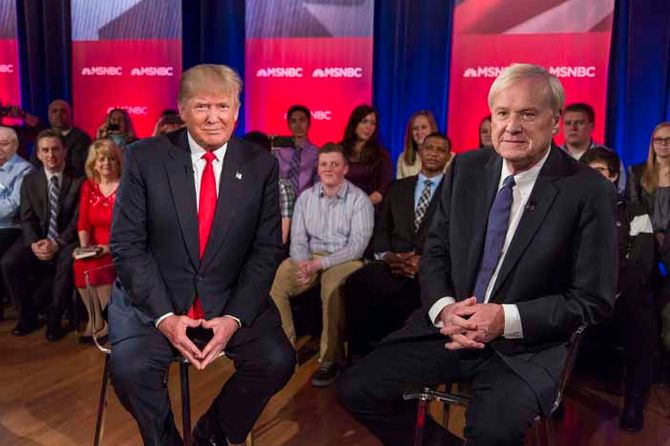Donald Trump y Chris Matthews