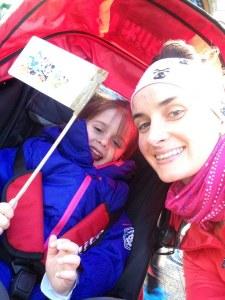 Sophie et Léonie au départ du marathon de Paris