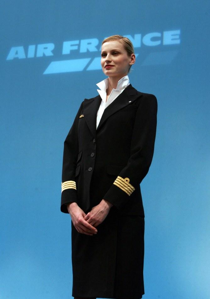 L'uniforme des hôtesses d'Air France