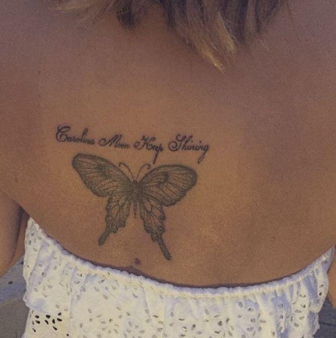 Le tatouage de Caroline Flack