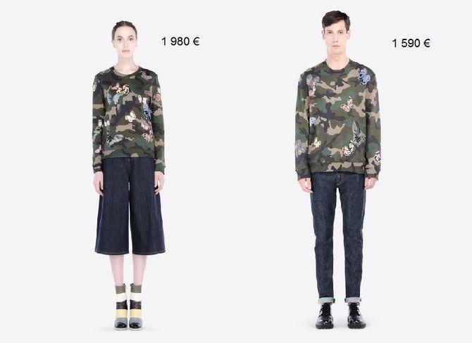 Pull Valentino : 1 980 € / 1 590 €