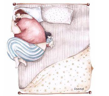 14 disegni mostrano che l'amore tra padre e figlia è infinito