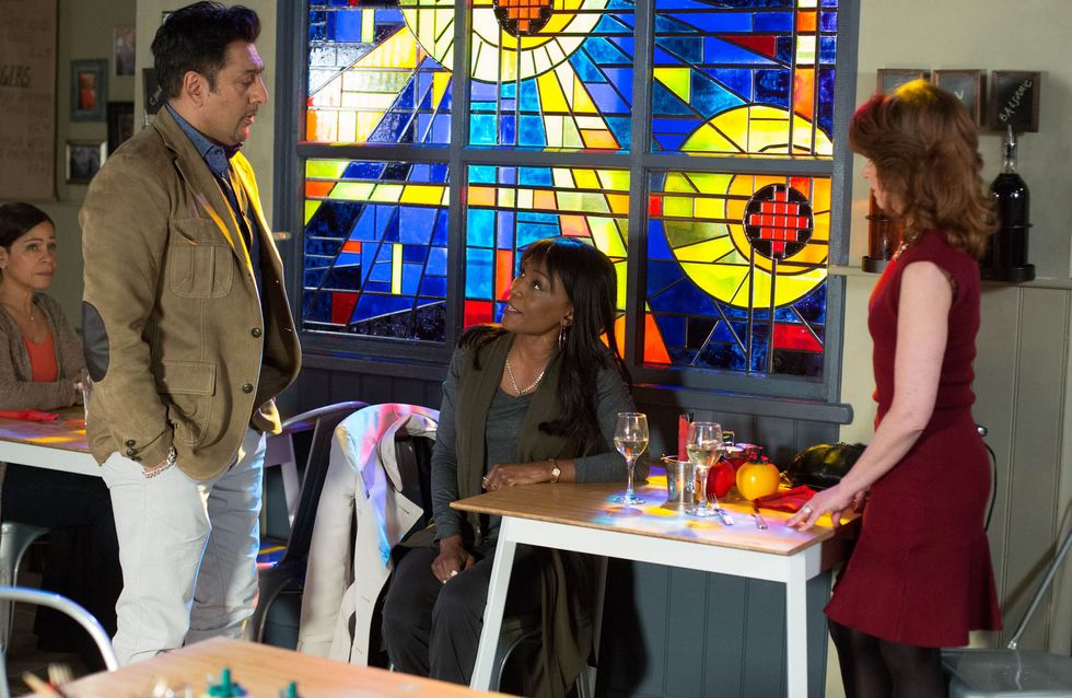 Eastenders 19/4 - Masood gets a call from Zainab with some surprising news