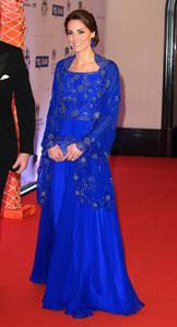 Kate Middleton, à l'hôtel Taj Mahal Palace, en Jenny Packham et Prada
