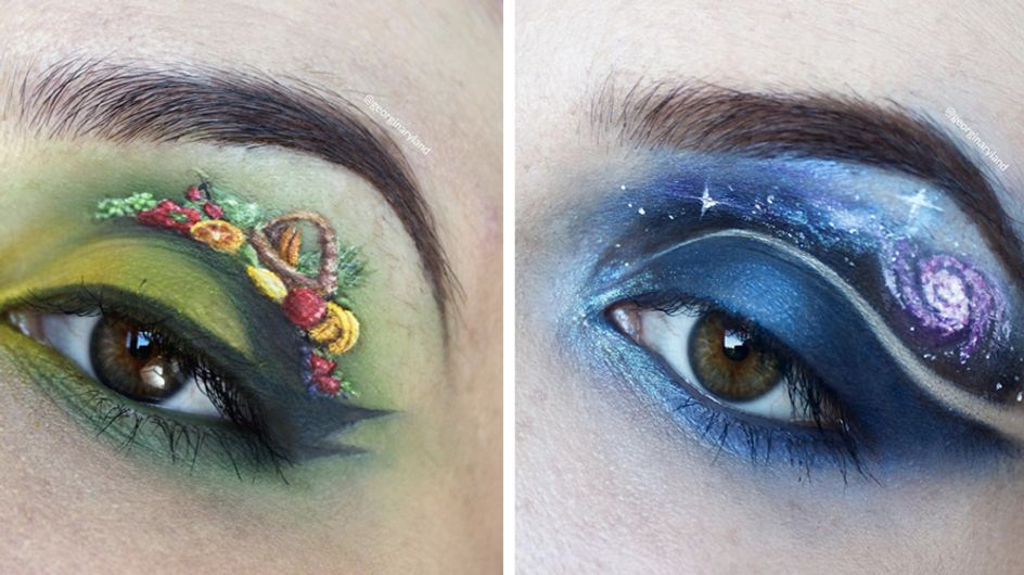 This Woman Makes Miniature Art On Her Eyelids And It's Incredible