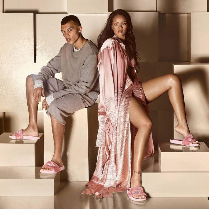 Rihanna imagine des claquettes en fourrure pour Puma
