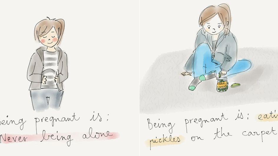 Emotional und hungrig: Diese süßen Illustrationen zeigen, wie es WIRKLICH ist, schwanger zu sein