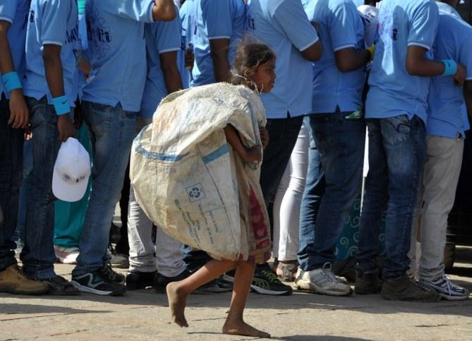 Une enfant en Inde